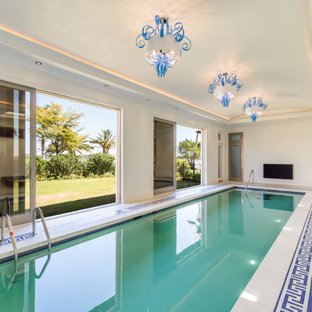 75 Most Popular Mediterranean Beige Swimming Pool Design Ideas for