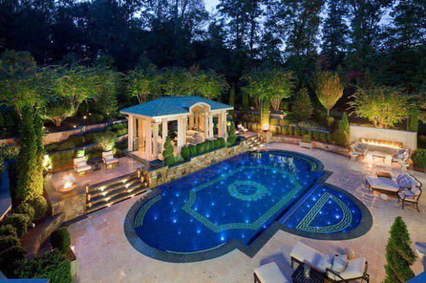 Mediterranean Swimming Pool Designs Ideas