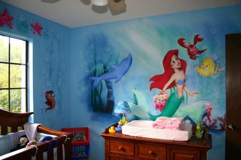 60 Cutest Mermaid Themes Ideas for Children Kids Room | Bedroom