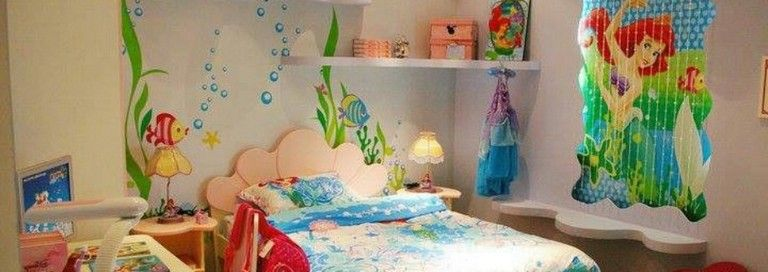 55 Amazing Mermaid Themes Ideas for Children Kids Room | Bedroom