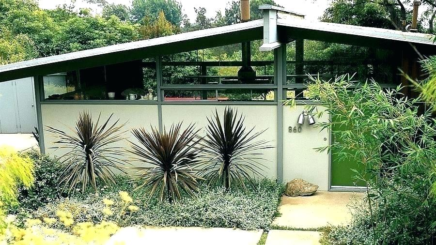 Mid Century Modern Front Yard Landscaping Small Home Interior
