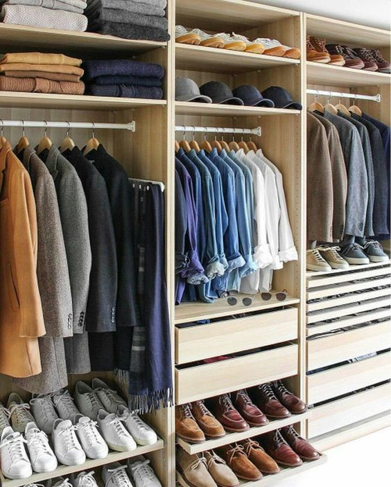 Pin by M. M. on Future home - other | Walk in closet design, Men