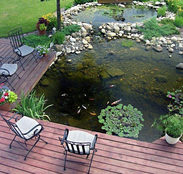 Modern Backyard Fish Pond Garden Landscaping Ideas 1 Savillefurniture