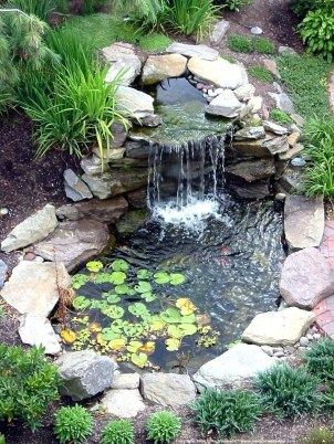 48 Modern Backyard Fish Pond Garden Landscaping Ideas | Garden