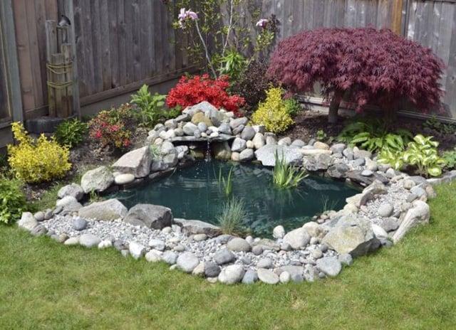 Modern Backyard Fish Pond Garden Landscaping Ideas 7