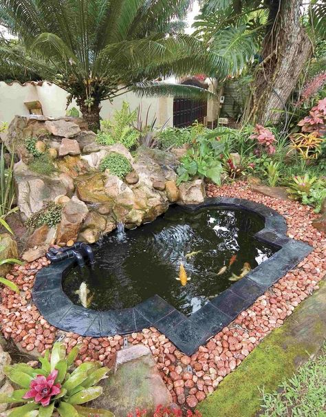 Modern Backyard Fish Pond Garden Landscaping Ideas 9