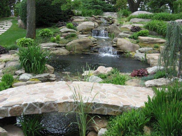Modern Backyard Fish Pond Garden