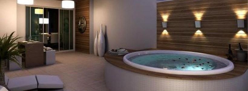 30 Stunning Cozy Modern Bathtub Dream Design Ideas - DecOMG