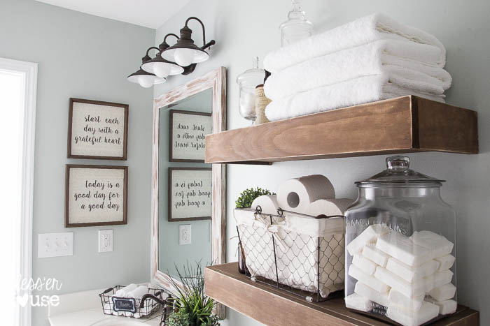 Modern Farmhouse Bathroom Makeover Reveal