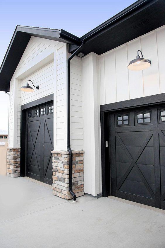 20+ Beautiful Modern Farmhouse Exterior Design Ideas That You'll