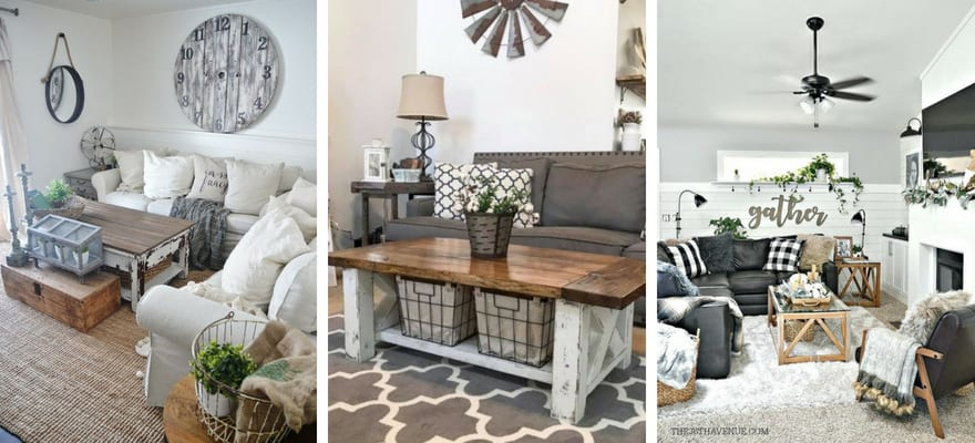 25 Modern Farmhouse Living Room Design Ideas - Decor with Pictures