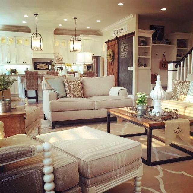 Living 01 Awesome Modern Farmhouse Living Room Decor Ideas | Gintohome