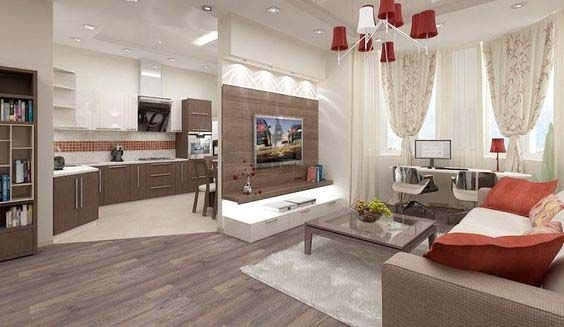 modern small open plan kitchen living room design ideas zoning
