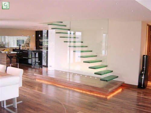 Modern Minimalist Glass Stair Design 01 | Architecture, Art and