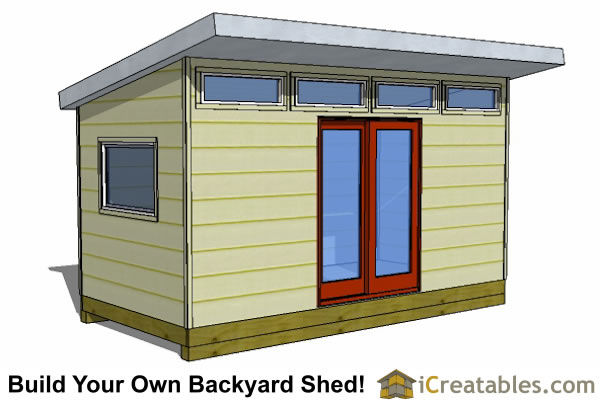 Modern Shed Plans - Modern DIY Office & Studio Shed Designs