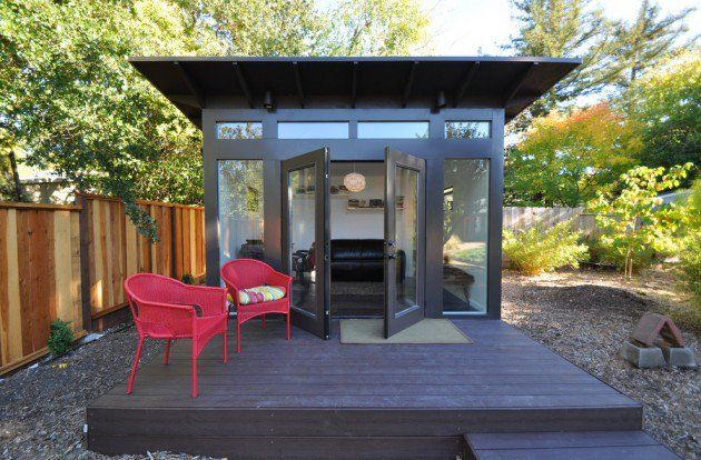 15 Compact Modern Studio Shed Designs For Your Backyard | A Space of