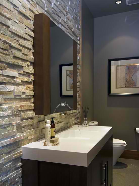 40 Spectacular Stone Bathroom Design Ideas - Decoholic