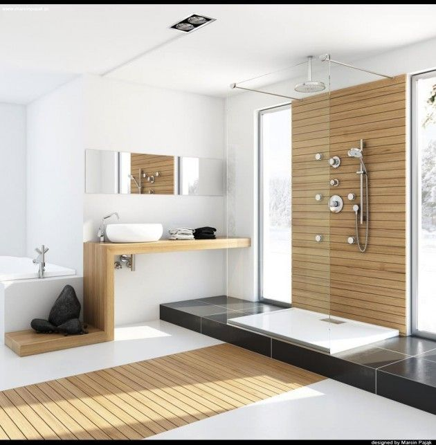Modern Wooden Bathroom Designs Ideas