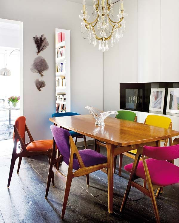 multicolor chairs | THE FEATHERED NEST lV: CHAIRS | Colored dining