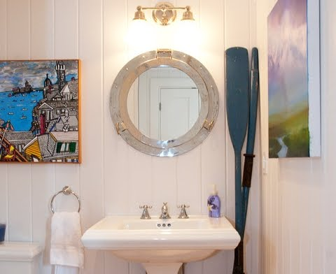Nautical Bathroom Decorating Ideas - Coastal Decor Ideas and