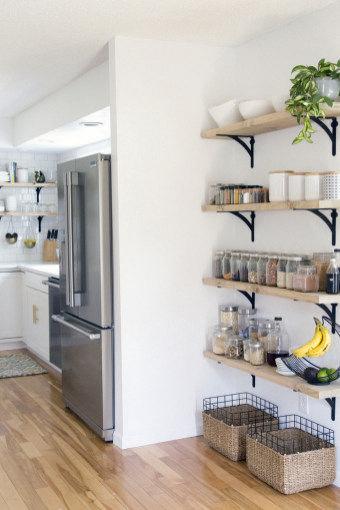 28 Nice Open Shelving Ideas for Minimalist Interior | bi level