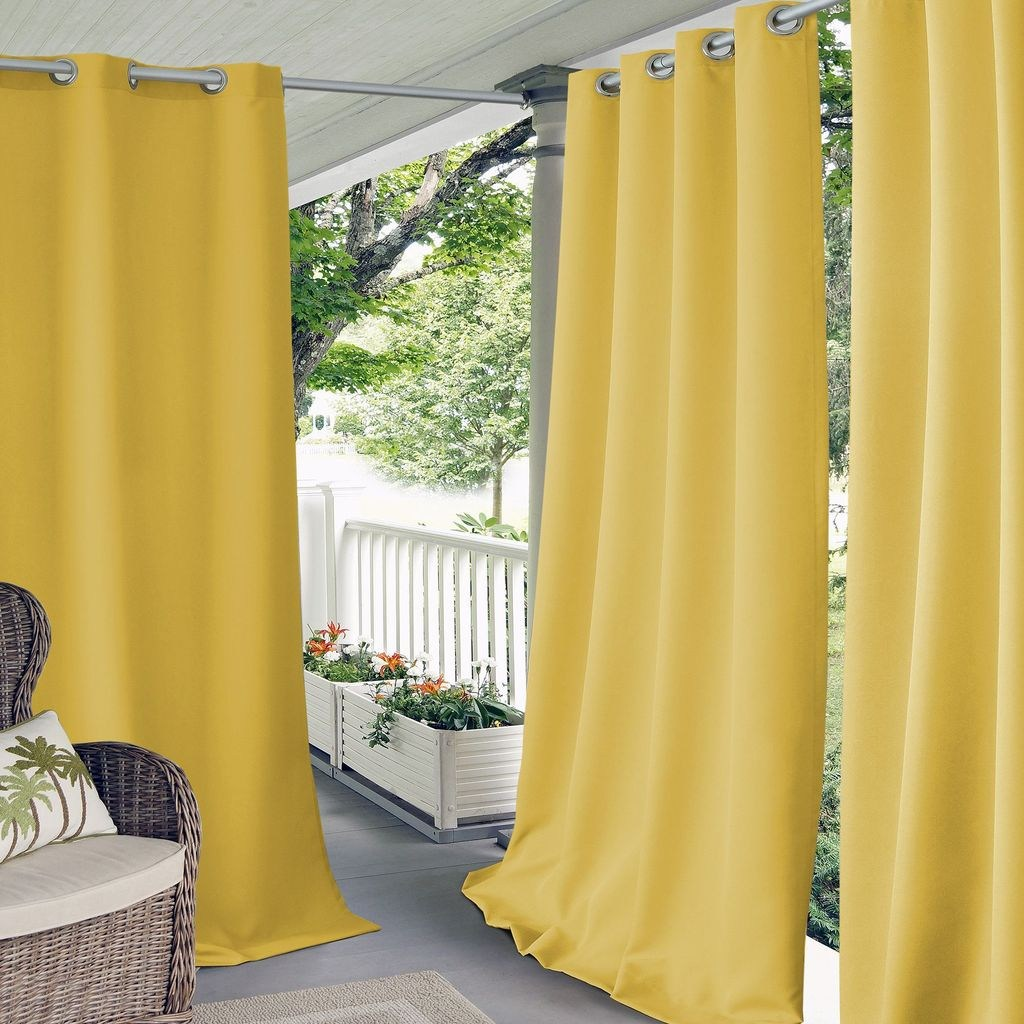 50 Pretty Outdoor Curtain Ideas Make Garden Colorful - TREND4HOMY