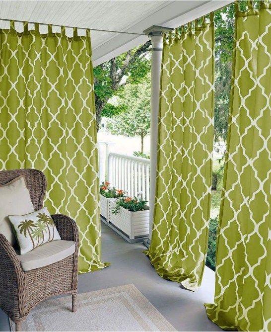 Outdoor Curtain Ideas Make Garden Colorful