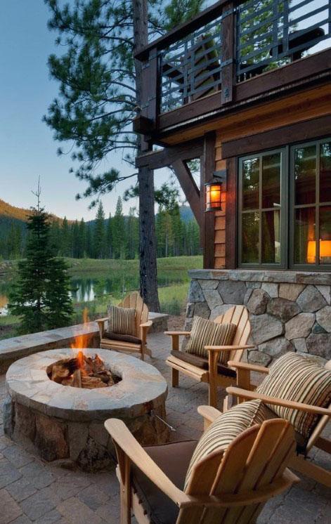 Outdoor Fireplace Design 3