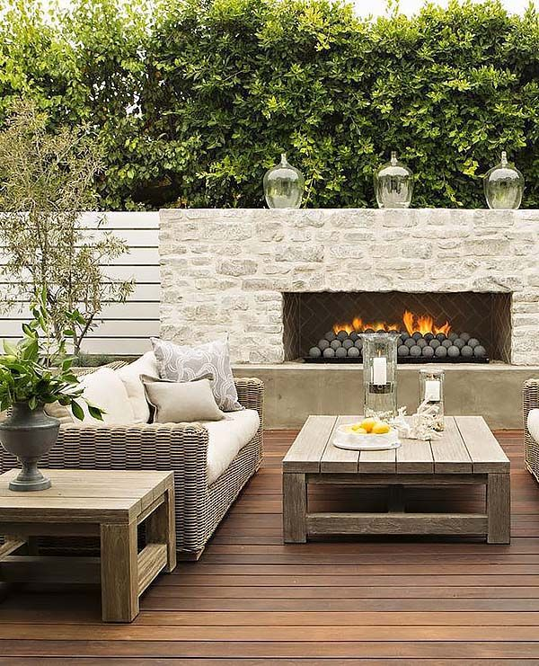 53 Most amazing outdoor fireplace designs ever | Fireplaces heat up