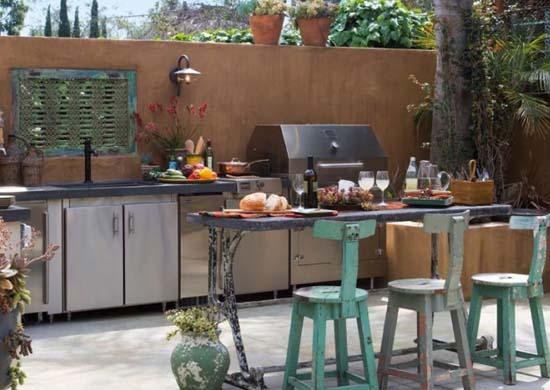 Home And Garden Design: Outdoor Kitchen Decorating Ideas