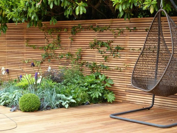 Horizontal fence panels u2013 modern garden fence design ideas