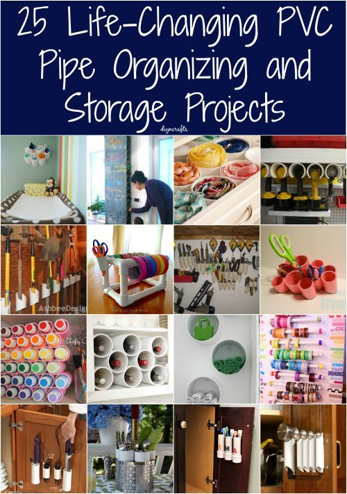 25 Life-Changing PVC Pipe Organizing and Storage Projects