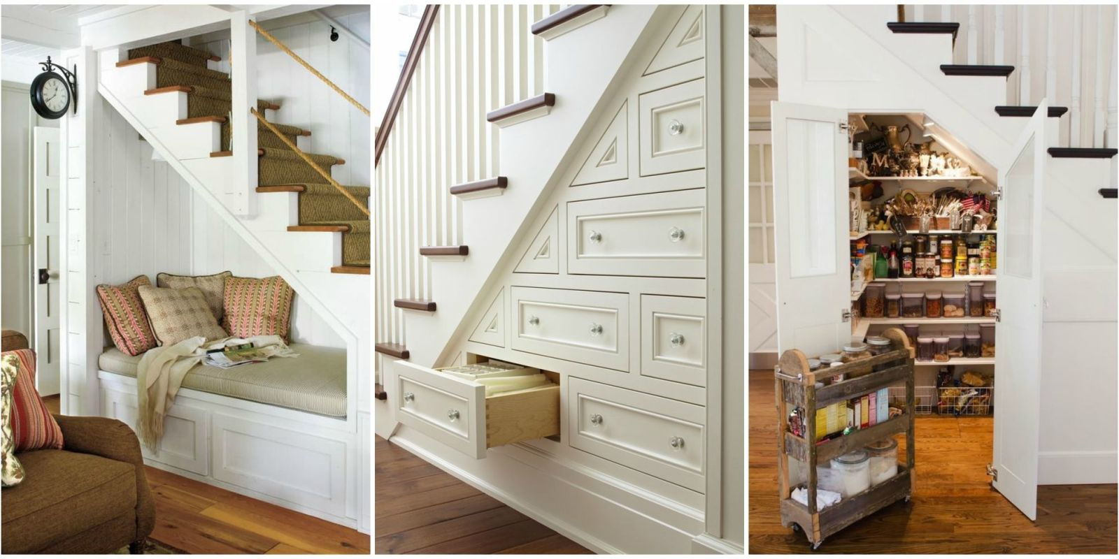 15 Genius under Stairs Storage Ideas - What to Do With Empty Space