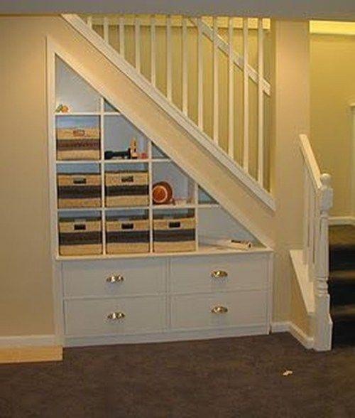 38 Inspiring Remodel Storage Stairs Ideas | Basement | Pinterest