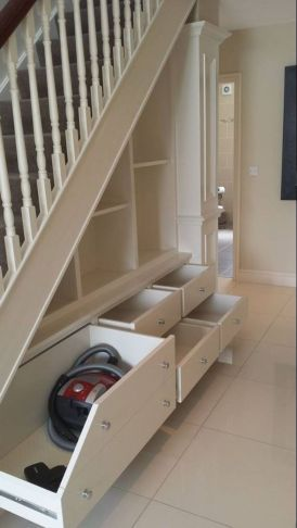 90 Cool Ideas to Make or Remodel Storage Under Stairs | Great Ideas