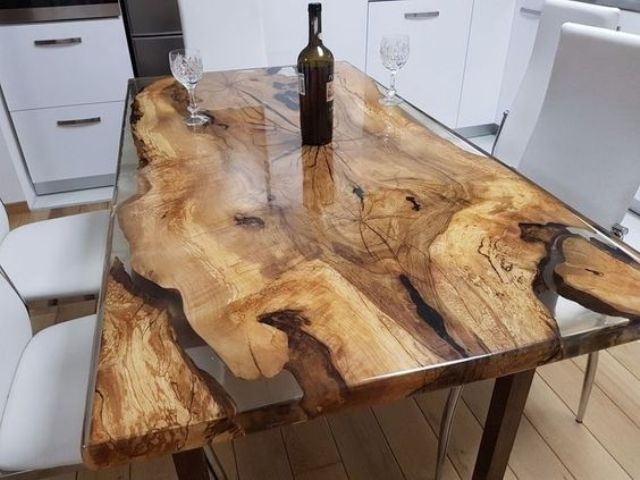 15 Resin Tables To Add A Natural Feel To Your Home - Shelterness