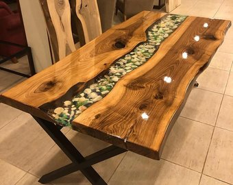 Resin table   Etsy