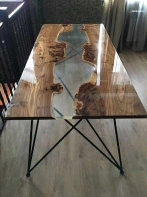 40 Amazing Resin Wood Table For Your Furniture | Woodwork | Resin