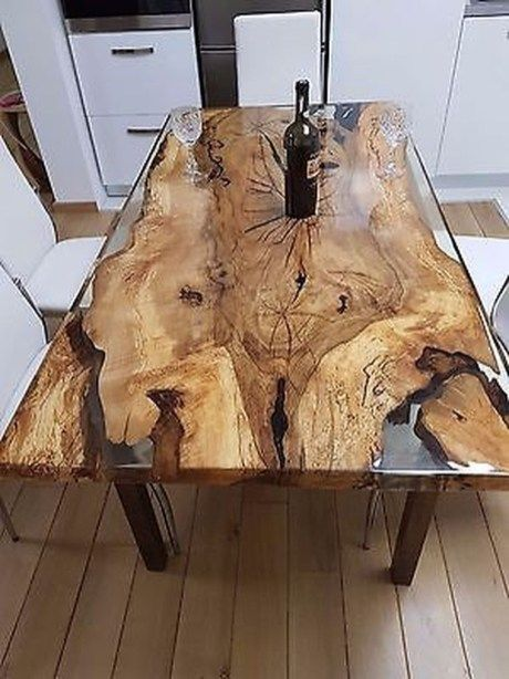 40 Amazing Resin Wood Table For Your Furniture   Fav   Wood table