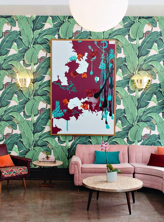Decorating With Retro Wallpaper: 32 Eye-Catchy Ideas - DigsDigs