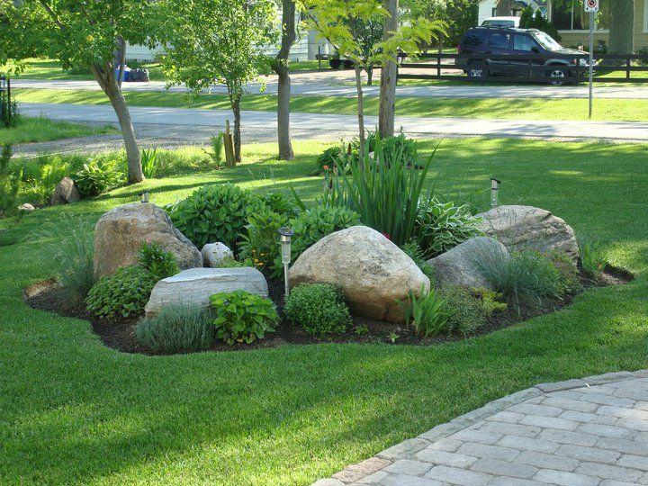 Front Rock Garden - Great Yard Ideas | rock garden ideas | Rock