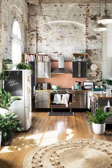 49 Awesome Rustic Bohemian Kitchen Decorations Ideas | Talia