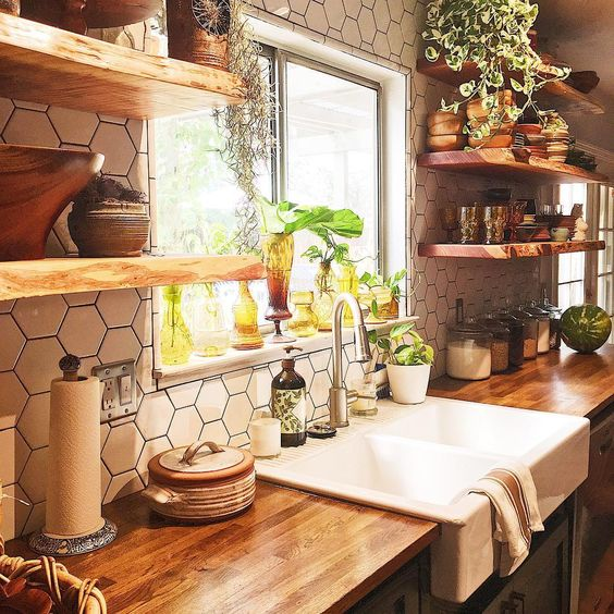 21 Bohemian Kitchen Design Ideas - Decoholic