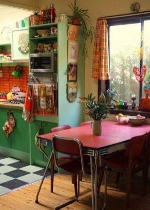 Rustic Bohemian Kitchen Decorations Ideas 11 in 2019 | Kitchen