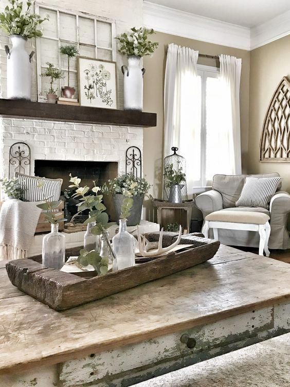 51 Rustic Farmhouse Living Room Design and Decor Idea