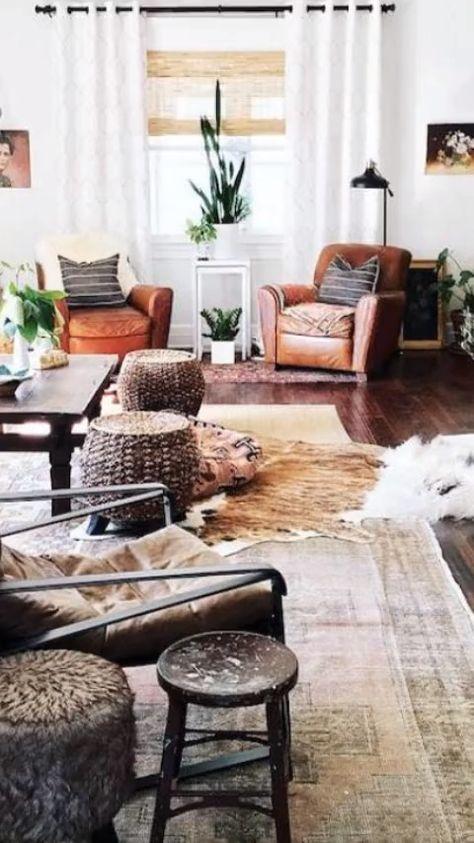 51+ Rustic Farmhouse Living Room Decor Ideas in 2019 | Home decor