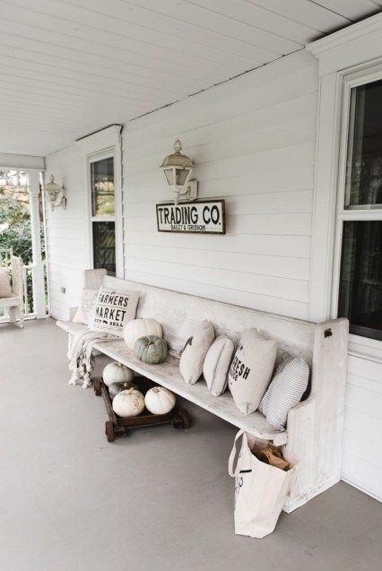 37 Wonderful Rustic Farmhouse Porch Decor Ideas | Patio | Pinterest