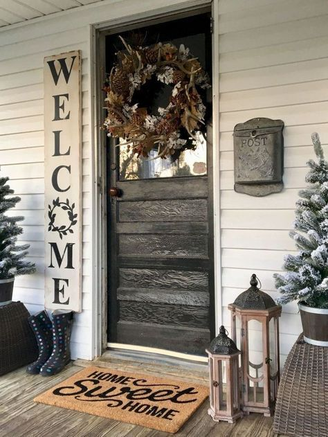 Rustic Farmhouse Porch Decor Ideas