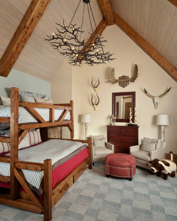 30 Cozy Rustic Kids Bedroom Design Ideas