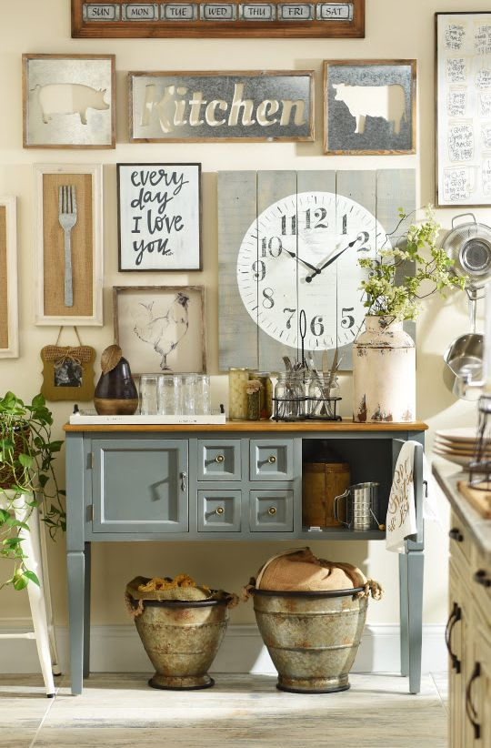 Add a little rustic, country charm to your kitchen, and you will